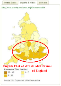 Eliot-name-distribution-England-and-Wales-1891