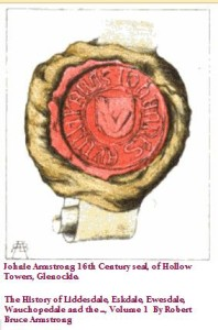 Johnie Armstrong 16th c seal