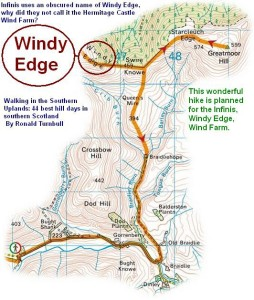 Wind Edge, Infinis planned wind farm walk.