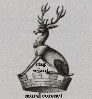 mural coronet stag sejant