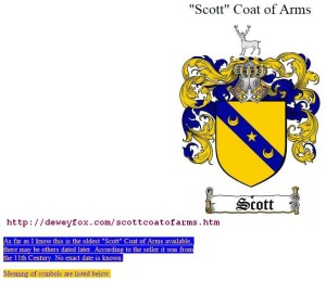 old Scott arms & symbols (1)