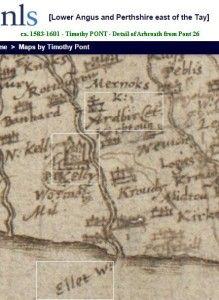 Ardbirlet Kelly Castle Ellet Water PONT map 1583-1601
