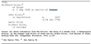 Ellot Battle of Dunber Archibald Gilbert (1)