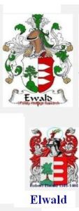 German Ewald and Robert Elwald crest comparisons.