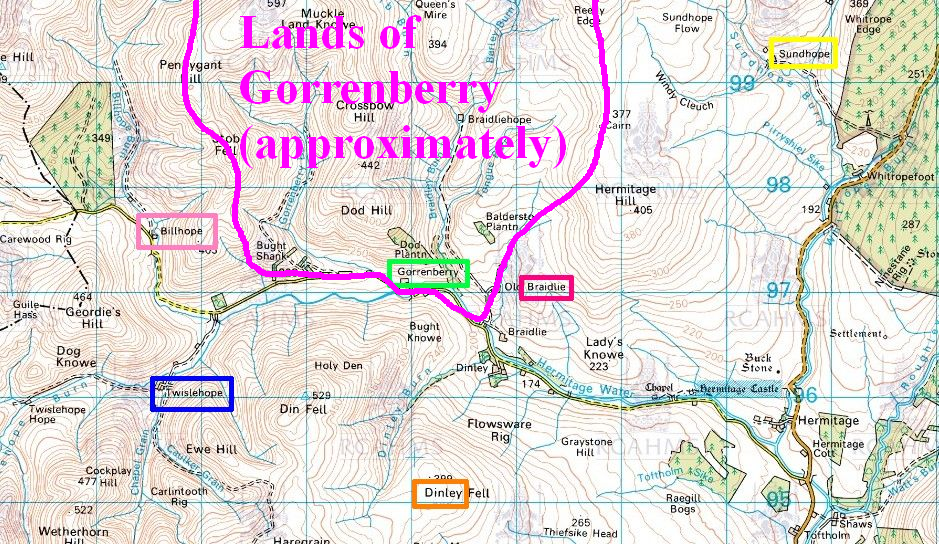 Lands of Gorrenberry approx