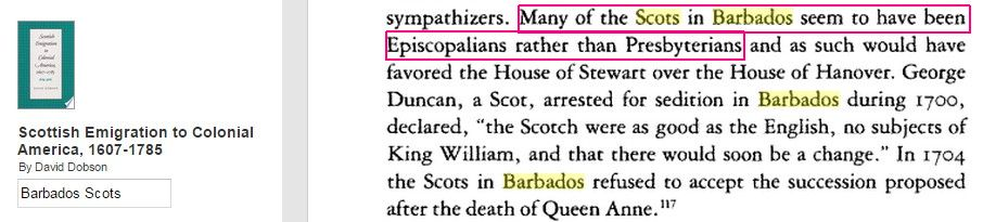 Scots in Barbados Episcopalians