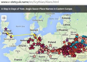 Anglo-Saxon Place Names in Eastern Europe
