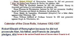 Robert Elwald of Remington 1305 father Alan pledge of Jarum
