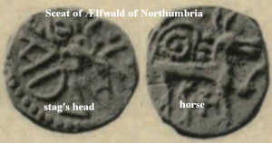 Sceat of Ælfwald of Northumbria