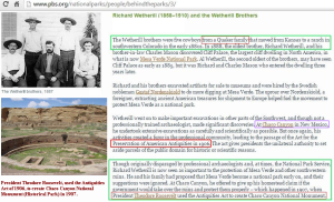 Wetherill Brothers     Antiquities Act
