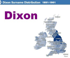 Dixon surname distribution