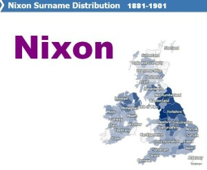Nixon surname distribution