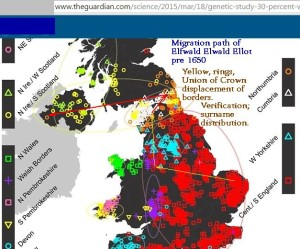 British DNA groupings map