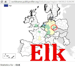 Elk, Elch distribution