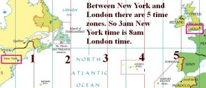 New York to London time zones.