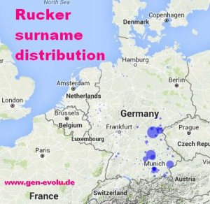 Rucker surname distribution Germany