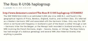 The Ross R-U106 haplogroup