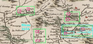 Blaeu 1654 Liddesdale Scotland Over Nether