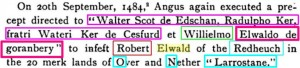 Buccleuch, Ralph Ker and his brother Walter