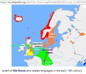 Gemanic-Danish-E Norse migration