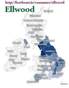 Ellwood distribution GB forebears