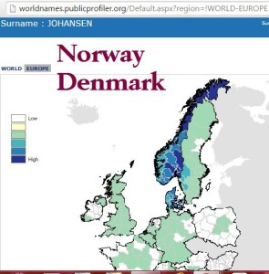 Johansen distribution Denmark & Norway