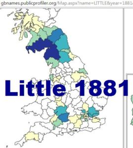 Little GBnames 1881 distribution