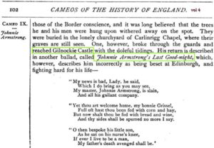 Cameos from English History, Volume 4 Gilnockie Castle