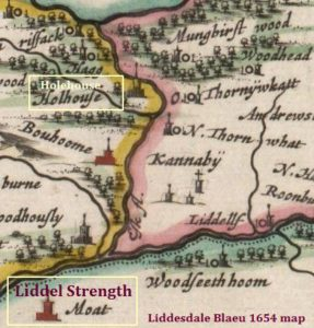 Holehouse Liddesdale Blaeu 1654 map