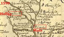 Hollas Mote 1590 map