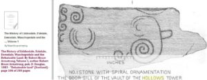 spiral of door sill of Hollows Tower