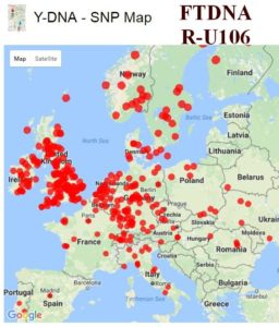 Proto-Germanic R-U106 haplogroup DNA Elwald-Elliot - Gorrenberry